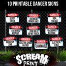 ScreamPrint   10 Downloadable Danger Signs – Spookteek