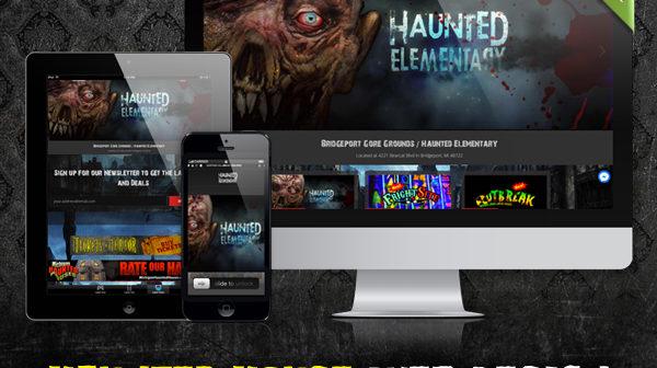 Nightmare Academy | Basic Haunted House Website Design | Spookteek