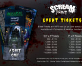 Haunted House Event Tickets | 5.5″ x 2″ | by ScreamPrint