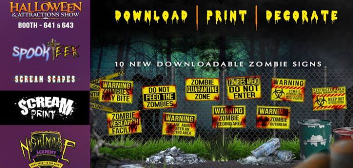 Download, Print & Decorate with 20 Zombie Signs fr…